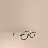 Burberry Check Detail Square Optical Frames
