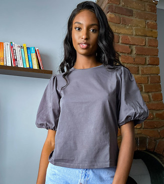Asos Tall ASOS DESIGN Tall t-shirt with puff sleeve in wash