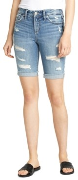 Silver Jeans Co. Suki Ripped Bermuda Shorts