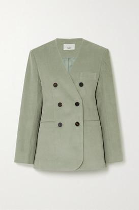 Frankie Shop Gala Cotton-corduroy Blazer - Mint