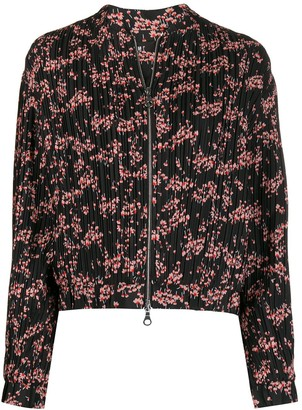 Markus Lupfer Pleated Floral Zipped Jacket
