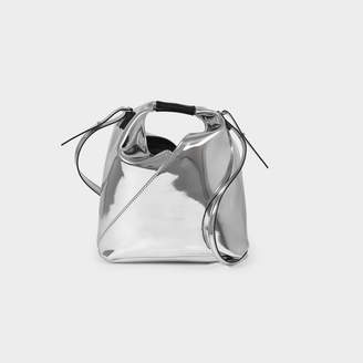 MM6 MAISON MARGIELA Japanese Mini Tote In Silver Synthetic Leather