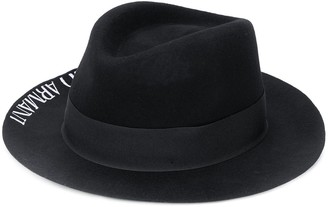 Emporio Armani Logo-Print Fedora Hat