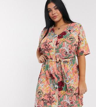 Junarose waist tie dress in floral