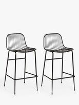 Thumbnail for your product : ANYDAY John Lewis & Partners Metal Bar Stools, Set of 2, Black