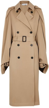 J.W.Anderson Camel cape-effect wool trench coat