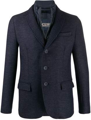 Herno padded single-breasted blazer