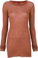 Rick Owens long sleeve T-shirt - women - Cotton - 40