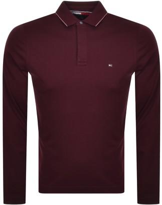Tommy Hilfiger Slim Long Sleeve Polo Burgundy
