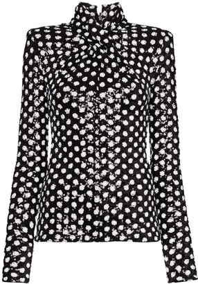 Richard Quinn Twisted Sequinned Top