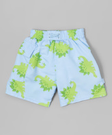 I Play Light Blue Stegosaurus Swim Diaper Trunks - Infant