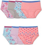 Fruit of the Loom Toddler Girl 7-pk. Stripes, Stars & Solids Signature Ultra Soft Briefs