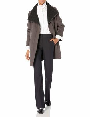 Elie Tahari Women's Laura Oversized Wool Zip Coat