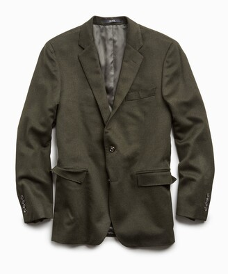 Todd Snyder Italian Cashmere Sutton Suit Jacket in Olive