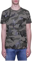Valentino Rubberized Camouflage Print T-shirt