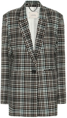 Schumacher Dorothee Charismatic Check wool-blend blazer