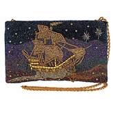 Mary Frances Disney's Peter Pan Think Happy Thoughts Beaded Pirate Ship Handbag