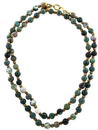 Ashley Pittman Agate Shanga Bead Necklace