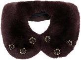Yves Salomon rabbit fur embellished collar