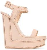 Giuseppe Zanotti Design wedge sandals - women - Leather - 36.5