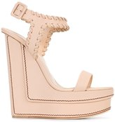 Giuseppe Zanotti Design wedge sandals - women - Leather - 37.5