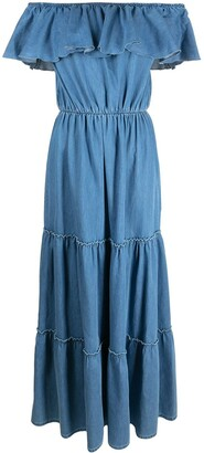 FEDERICA TOSI Ruffle-Detailed Tiered Maxi Dress