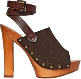 DSQUARED2 140mm Suede & Leather Sandals