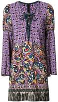 Anna Sui paisley print fringed dress