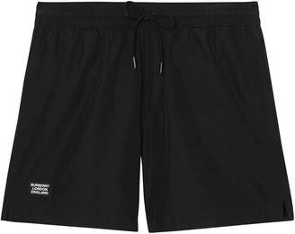 Burberry Logo Detail Drawcord Swim Shorts