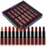 SHANY Cosmetics Lipstick Set of 12 Long-lasting and Moisturizing Creamy Colors with Various Finishes - Warm Wishes