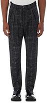 Faith Connexion Men's Plaid Wool-Blend Trousers-BLACK