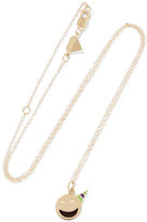 Alison Lou Small Party Animal Enameled 14-karat Gold Necklace