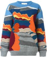 Stella McCartney landscape jacquard jumper