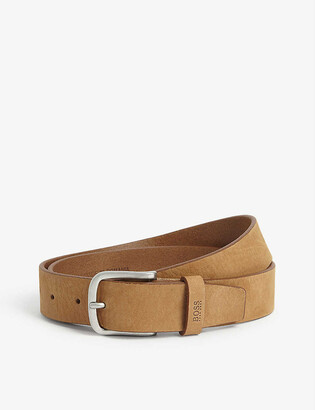BOSS Buckle vegetable tanned leather belt