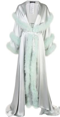 Dolce & Gabbana Feather Trim Coat