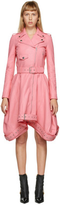 Moschino Pink Leather Short Dress