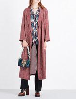 Burberry Paisley-print silk-satin coat