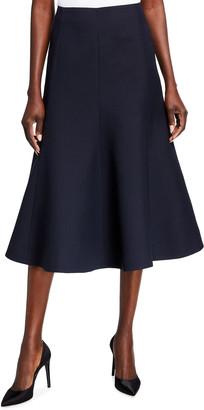Valentino Wool-Blend Midi Skirt