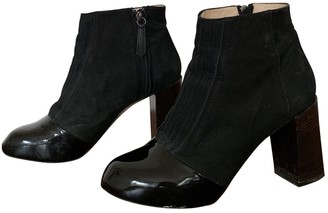 Carven Black Suede Ankle boots