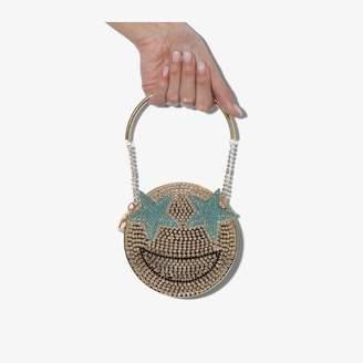 Rosantica gold tone Smile crystal bracelet bag