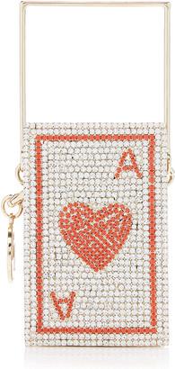 Rosantica Poker Ace Of Hearts Crystal Top Handle Bag