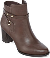 Liz Claiborne Babin Heeled Ankle Booties - Wide