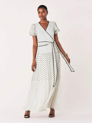 Diane von Furstenberg Breeze Silk Chiffon Maxi Wrap Dress