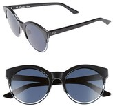 Christian Dior Women's Siderall 1 53Mm Round Sunglasses - Black/ Blue