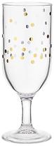 John Lewis Spot Print Acrylic Mini Champagne Flute, Clear/Gold