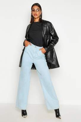boohoo Belted Faux Leather Utility Jacket