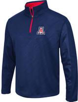Men's Stadium Arizona Wildcats College Embossed Sleet Quarter-Zip Pullover