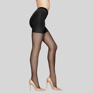 Hanes Premium Women's Siky Sheer Contro Top Pantyhose -