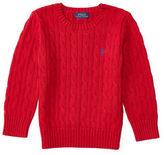 Ralph Lauren Boys 2-7 Long Sleeve Cable Knit Sweater