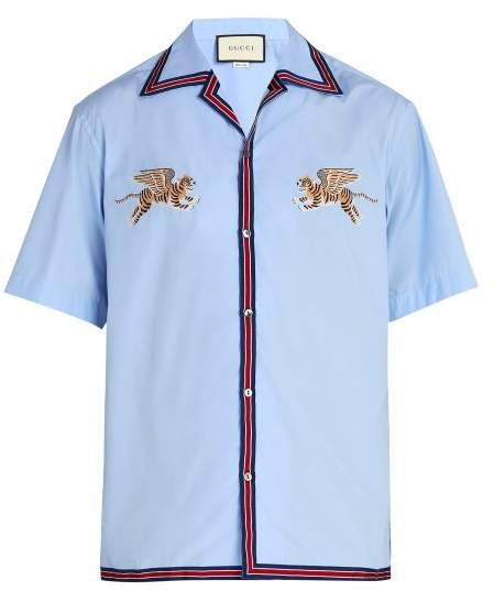 b835cecdc1d Gucci Bowling Shirt - ShopStyle